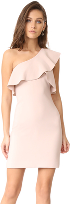 Elizabeth and James Jerard One Shoulder Ruffle Dress $415 thestylecure.com