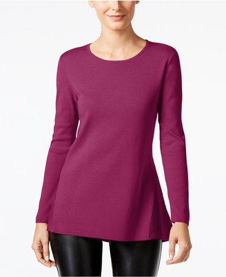 Alfani Ribbed-Trim Peplum Sweater, Only at Macy's $79.50 thestylecure.com