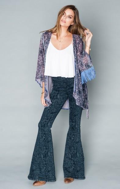 Freedom Fringe Kimono ~ Velvet Purple Frost