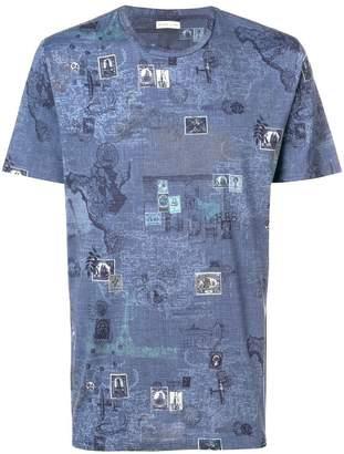 Etro world print T-shirt