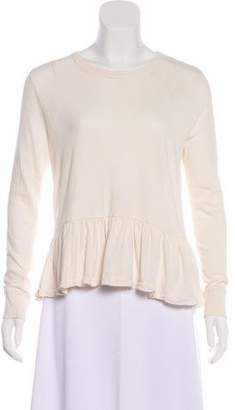 The Great Long Sleeve Peplum Top