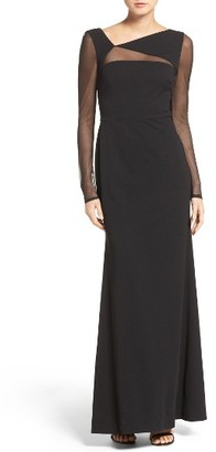 Women's Vera Wang Ilusion Inset Gown $298 thestylecure.com