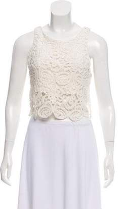 Miguelina Guipure Lace Sleeveless Top