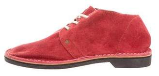 Brother Vellies Suede Round-Toe Booties