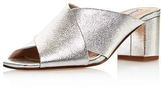 Charles David Women's Crissaly Leather Block Heel Slide Sandals