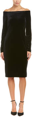 Three Dots Velvet Shift Dress