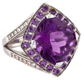 Mauboussin 18K Amethyst & Diamond Fou De Toi Cocktail Ring