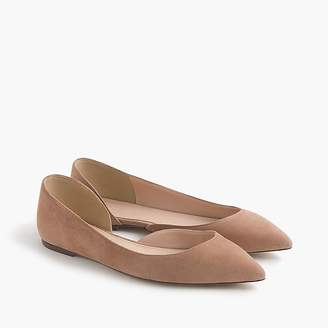 Audrey flats in suede $138 thestylecure.com