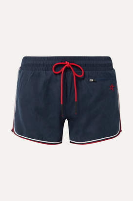 Perfect Moment Rainbow Brushed-shell Shorts - Navy