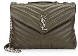 Saint Laurent Medium Lou Lou Leather Chain Flap Shoulder Bag