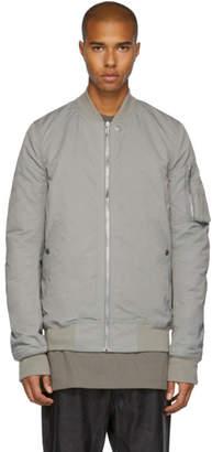 Rick Owens Grey Cotton and Nylon Flight Bomber Jacket