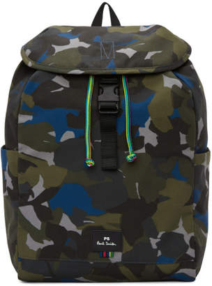 Paul Smith Green Camo Backpack