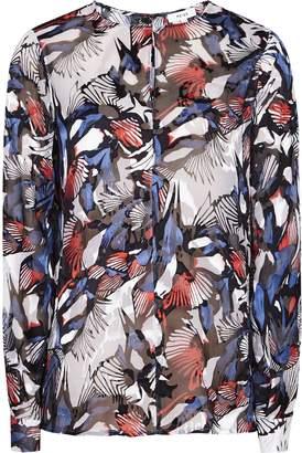 Reiss Ameris - Butterfly Burnout Print Blouse in Multi