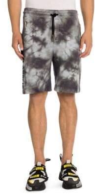 Palm Angels Men's Logo Over Jogging Shorts - Black - Size XXL