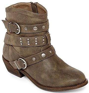 JCPenney Olsenboye® Sunday Moto Booties - as seen in PEOPLE STYLEWATCH