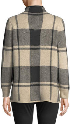 Buffalo David Bitton Metric Furs Plaid Open-Front Cardigan