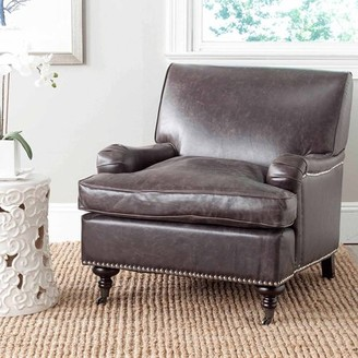 Safavieh Chloe Fully Upholstered Club Chair with Casters