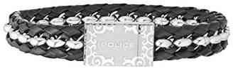 Police Men Stainless Steel Charm Bracelet - PJ26053BLS.01-L