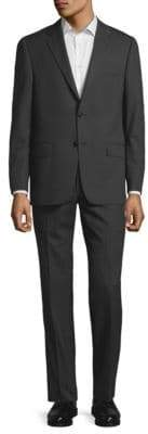 Hickey Freeman Pinstriped Wool Suit