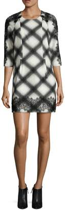 BCBGMAXAZRIA Women's Dorielle Printed Button Sheath Dress