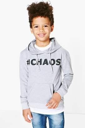 boohoo Boys Chaos Slogan Sweat Top