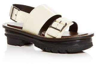 Marni Women's Leather Slingback Platform Sandals