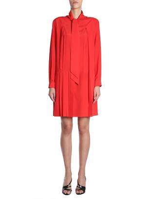 Givenchy Crepe De Chine Silk Shirt Dress