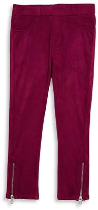 7 For All Mankind Girl's Zip Cuff Pants
