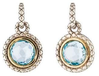Charles Krypell Aquamarine Drop Earrings