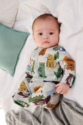Next Boys Grey Multi Animal Character Sleepsuit (0mths-2yrs) - Grey