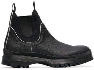 Prada black brixen leather boots