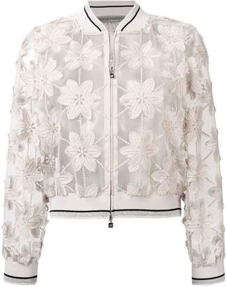 D-Exterior D.Exterior sheer floral embroidered jacket