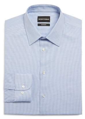 Giorgio Armani Micro Houndstooth Regular Fit Dress Shirt