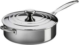 Le Creuset Stainless Steel Saute Pan, 4.5 qt.
