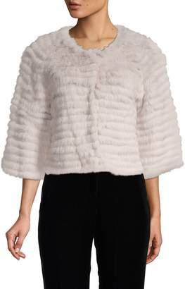 DOLCE CABO Rabbit Fur Snap Jacket