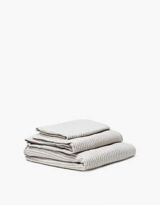IN BED Queen Linen Sheet Set Striped