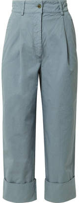 Acne Studios Phaedra Cropped Cotton-twill Straight-leg Pants
