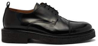 Ami Rubber Sole Leather Derby Shoes - Mens - Black