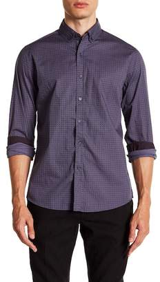 Report Collection Micro Geo Print Slim Fit Shirt
