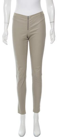 Alice + Olivia Alice + Olivia Leather Skinny-Leg Leggings