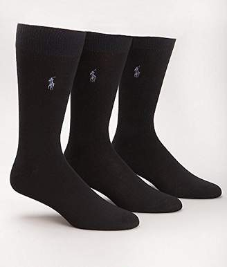 Ralph Lauren Polo men's socks Dress Supersoft flat knit 3pairs