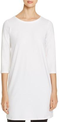 Eileen Fisher Three-Quarter Sleeve Crewneck Tunic $138 thestylecure.com