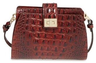 Brahmin 'Alena' Croc Embossed Leather Crossbody Bag - Brown $225 thestylecure.com