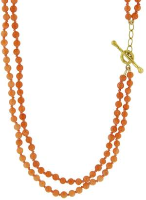 Cathy Waterman Coral Double Strand Necklace