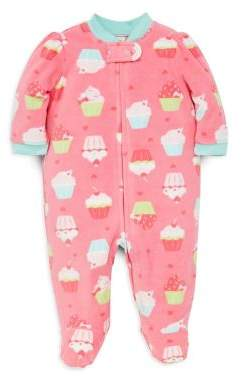Little Me Baby Girl's Cupcake-Print Footie