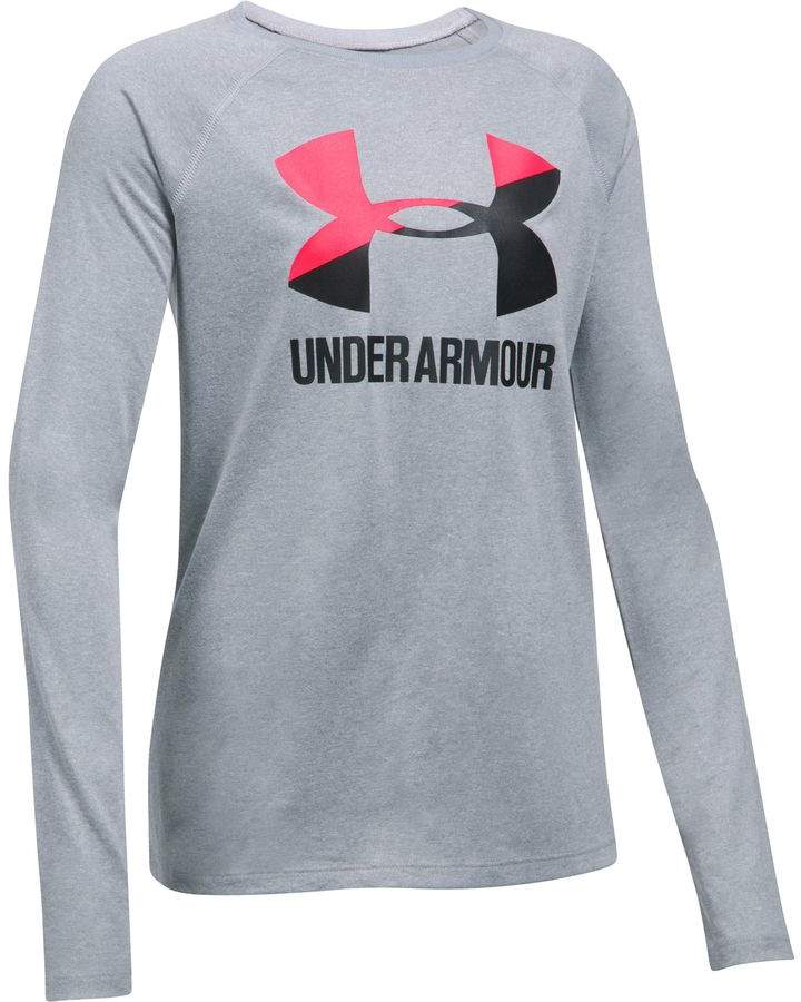 Under Armour Big Logo Long-Sleeve T-Shirt - Girls'