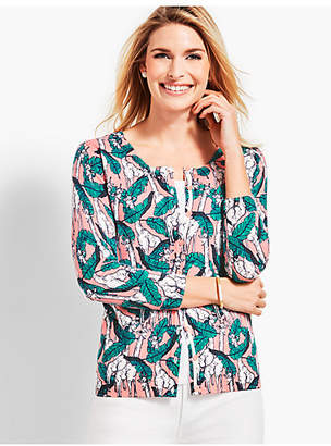 Talbots Charming Cardigan - Giraffe Party Print