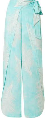 Vix Liz Printed Voile Pants - Turquoise