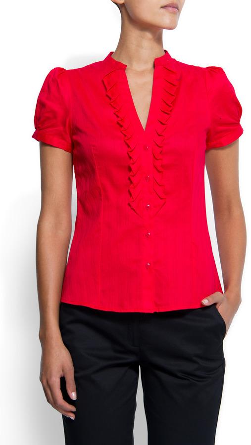 MANGO Short sleeves shirt