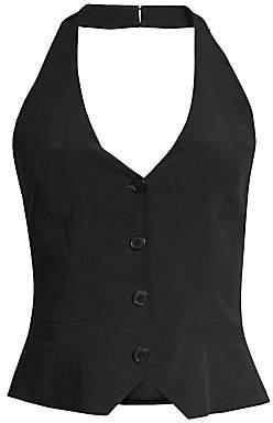 L'Agence Women's Nima Silk Halter Vest